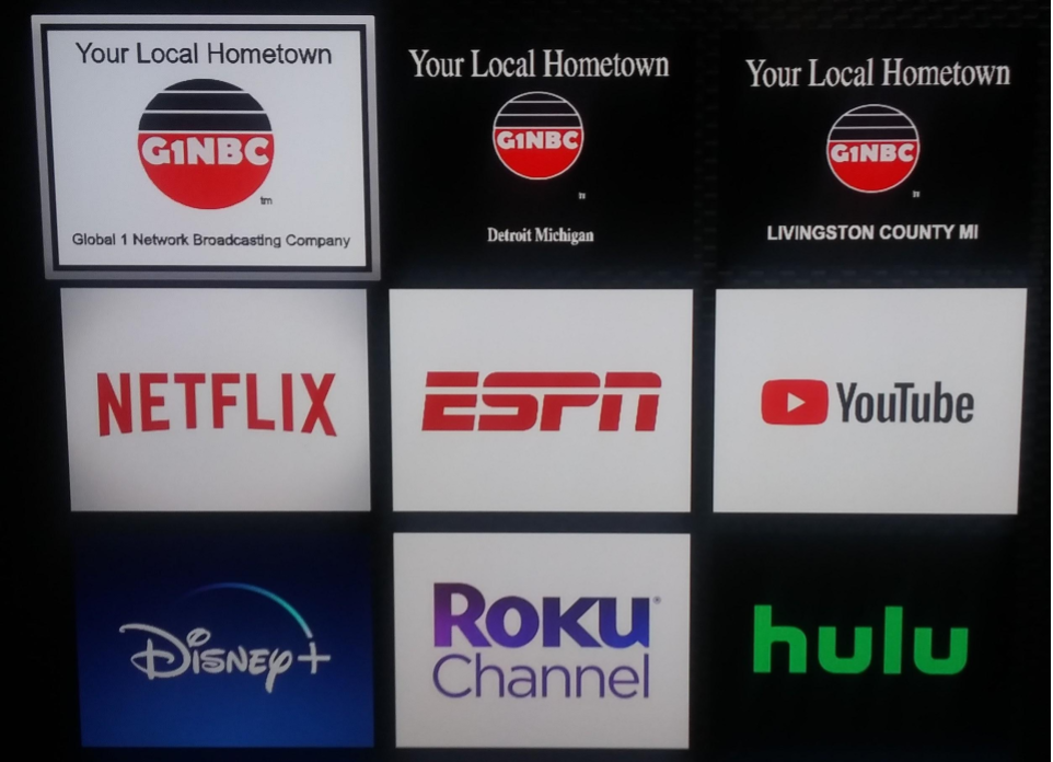 G1NBC has three channels on ROKU TV