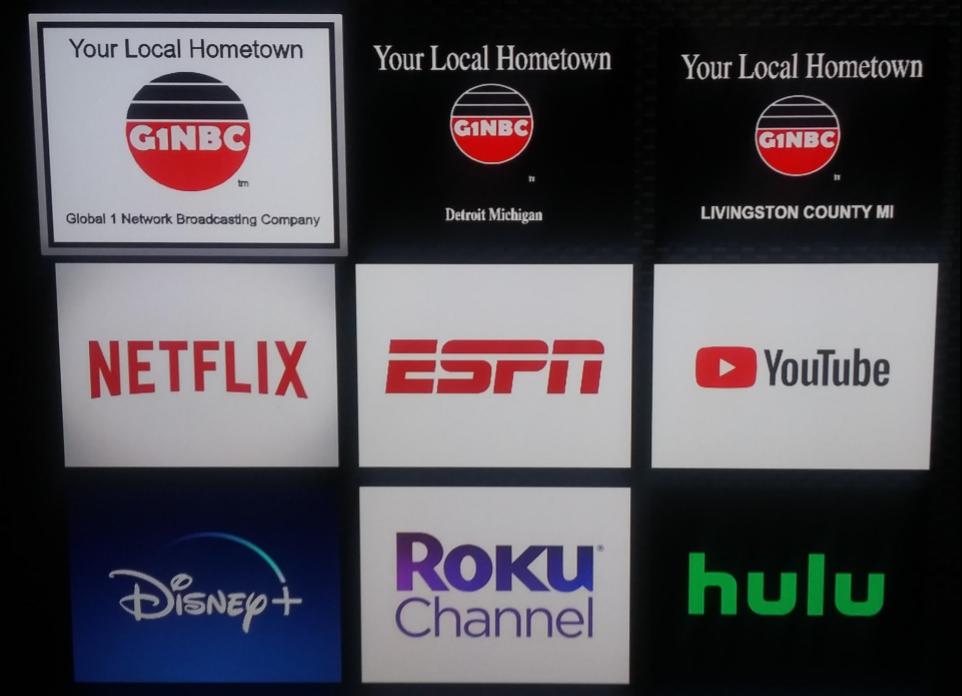G1NBC has three channels on ROKU TV